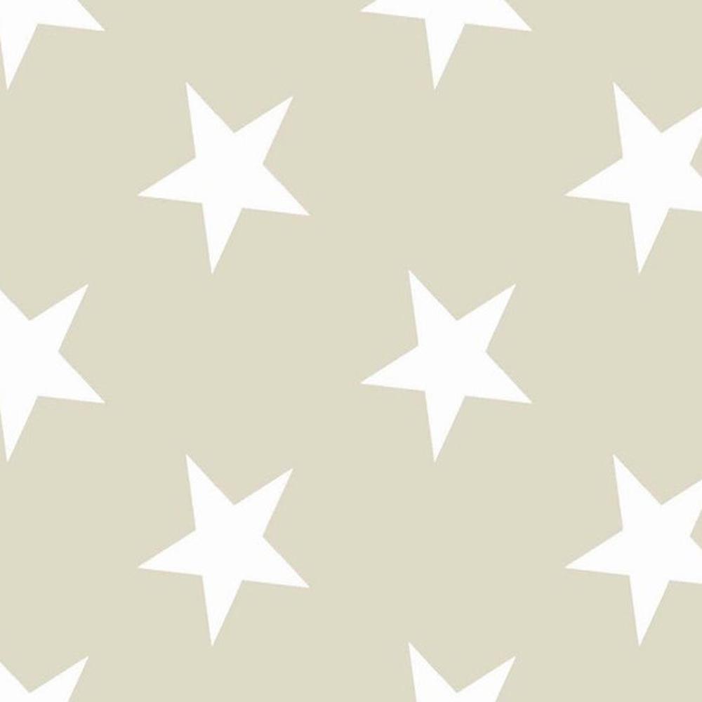 Premier Home Yıldız Desenli Fon Perde - Bej / Beyaz - 170x270 cm