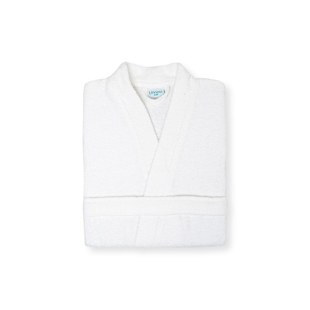 Linnea Plain Kadın Kimono Bornoz S/M - Beyaz