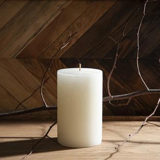 Q-Art Vanilla Silindir Blok Mum 10x15 cm