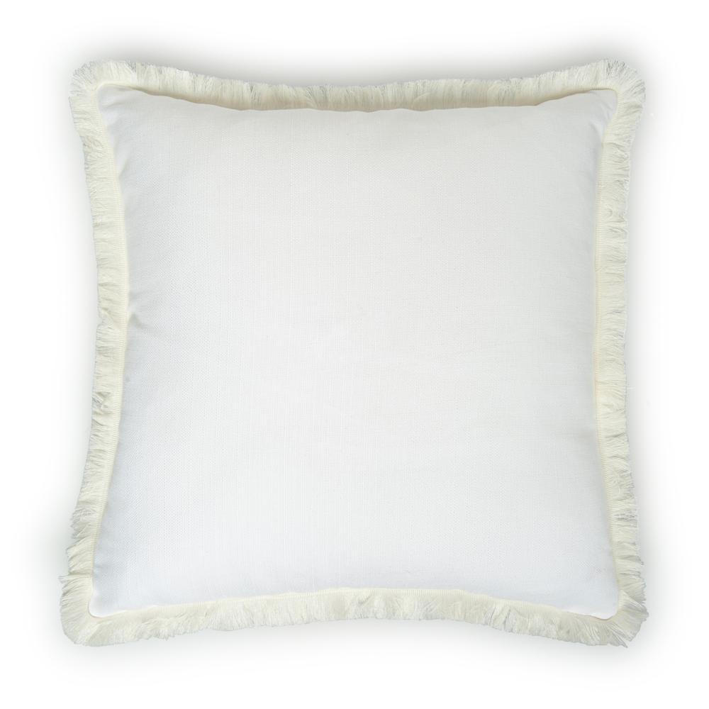 Cynthia Kırık Panama Kırlent (Beyaz) - 43x43 cm