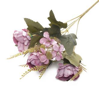 Q-Art Mathilda Yapay Çiçek Buket - Lila