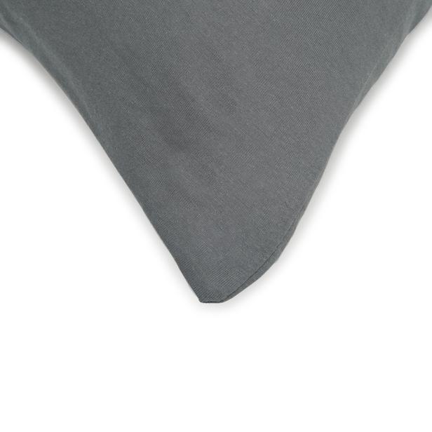 Açelya Penye 2'li Yastık Kılıfı - 50x70 cm - Antrasit