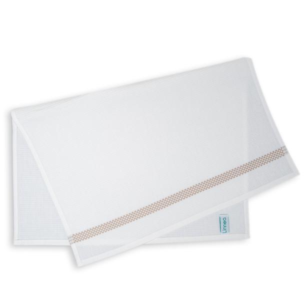 Linnea Pique Tekli Mutfak Havlusu (Beyaz / Bej) - 50x70 cm