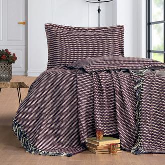Evim Home Stripe Çift Kişilik Yatak Örtüsü Takımı - Bordo