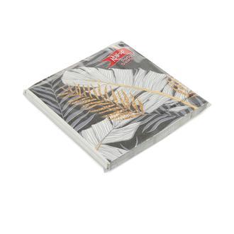 Roll-Up Party Dreams Altın Simli Yapraklar Kağıt Peçete - Siyah - 20 Adet