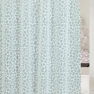 Primanova Stone Banyo Perdesi - Beyaz