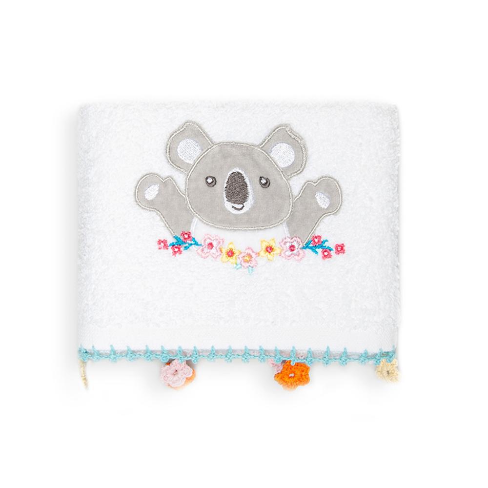 Nuvomon Koala Çocuk Havlusu - Beyaz - 30x50 cm