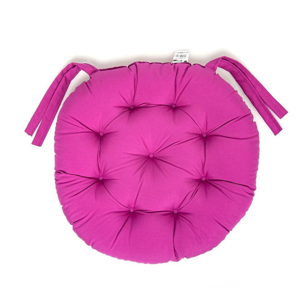 Iris Home Sandalye Minderi Yuvarlak 43 cm - Mürdüm