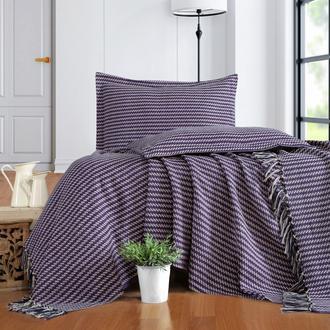 Evim Home Stripe Çift Kişilik Yatak Örtüsü Takımı - Mor