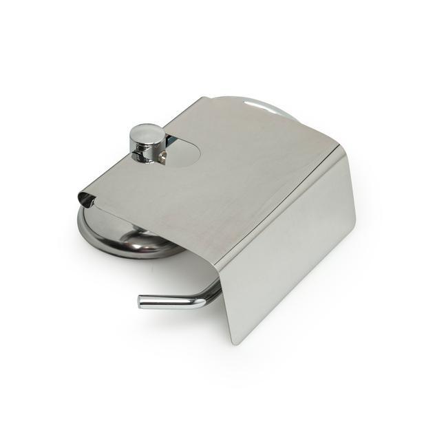 Alper Banyo Geniş Kapaklı Tuvalet Kağıtlık - Krom