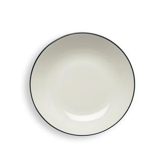 Tulu Porselen Line Çukur Tabak - 19 cm