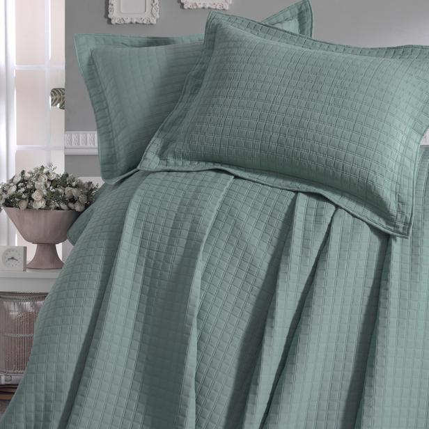 Evim Home Sore Box Tek Kişilik Yatak Örtüsü Takımı - Yeşil