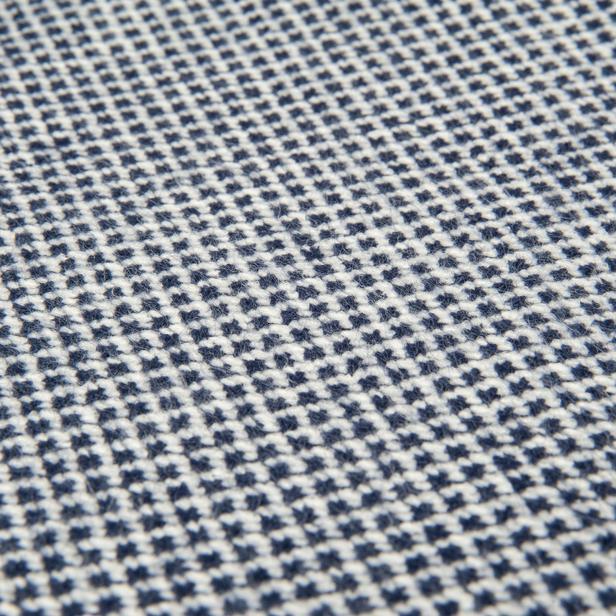 Linnea Geometric Jakarlı Throw Battaniye - Lacivert - 130x170 cm