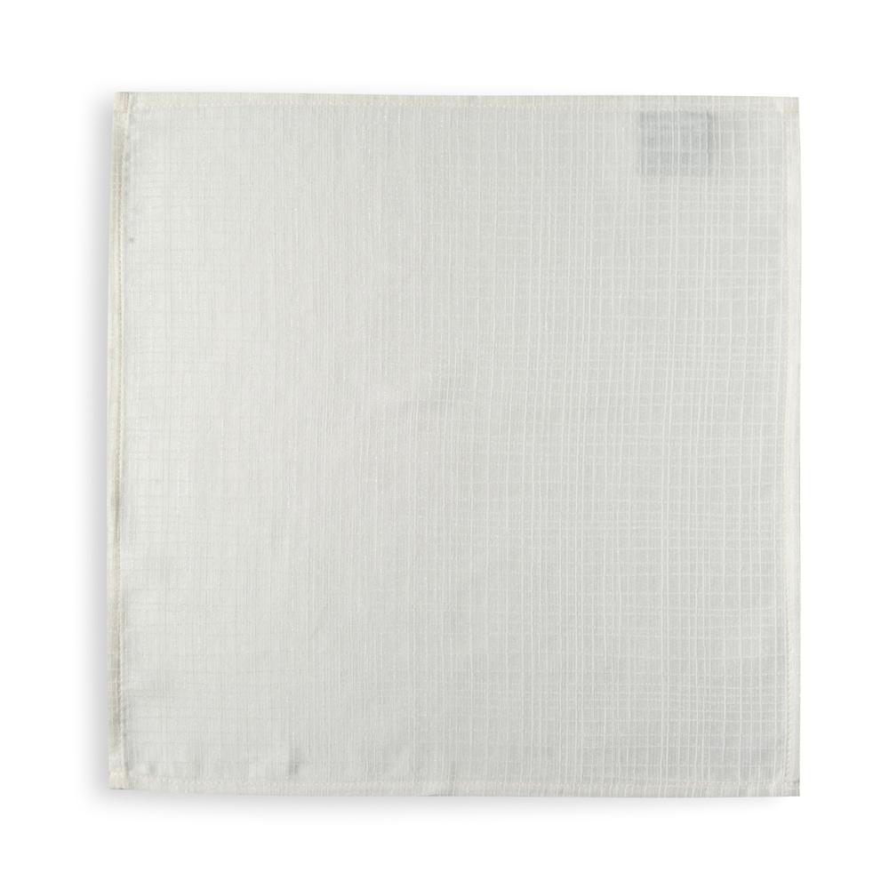 Cynthia Plaid 2'li Peçete (Beyaz) - 45x45 cm