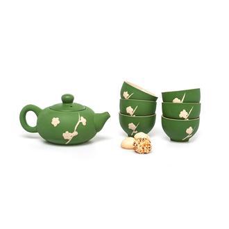 Taşev Fornia Çay Sunum Seti (Yeşil) - 8 Parça