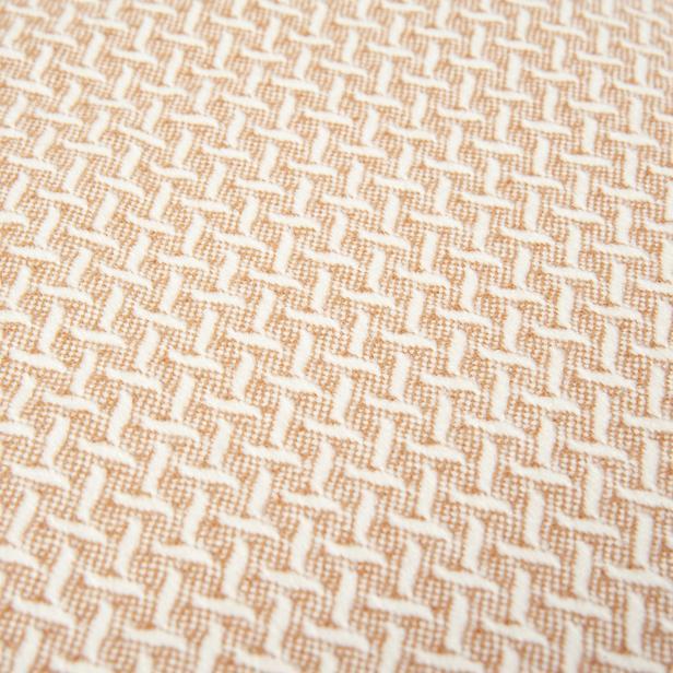 Linnea Plus Jakarlı Throw Battaniye - Gülkurusu - 130x170 cm