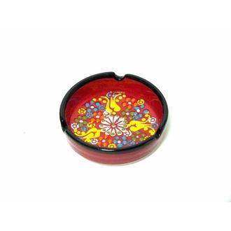 Myros Çini Küçük Küllük - Kırmızı