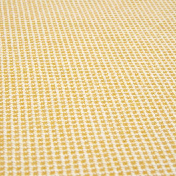 Linnea Geometric Jakarlı Throw Battaniye - Sarı - 130x170 cm
