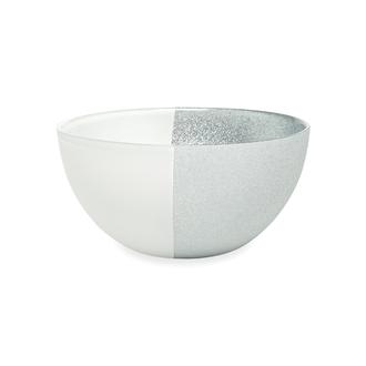 Evabella İstanbul  Servis Kasesi - Beyaz/Gümüş -15cm