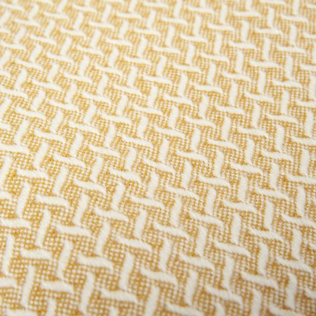 Linnea Plus Jakarlı Throw Battaniye - Sarı - 130x170 cm