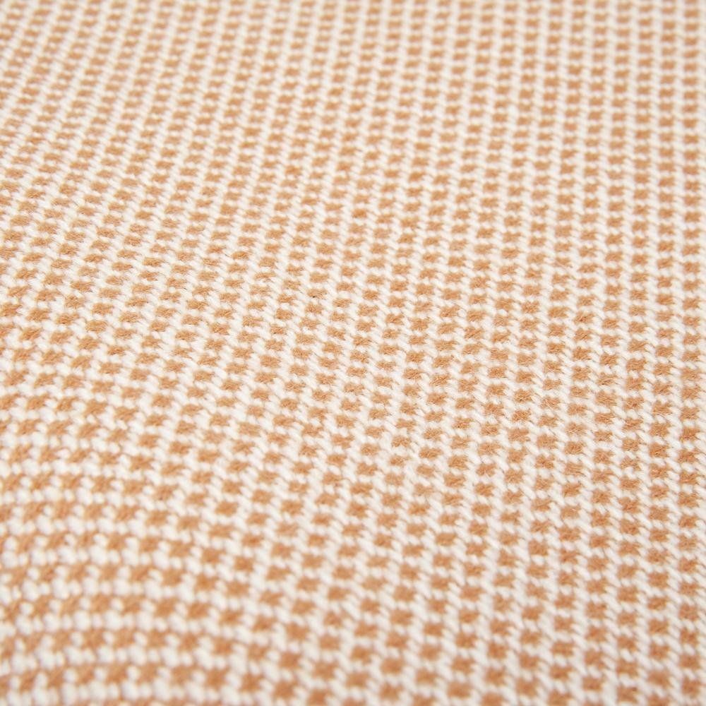 Linnea Geometric Jakarlı Throw Battaniye (Gülkurusu) - 130x170 cm