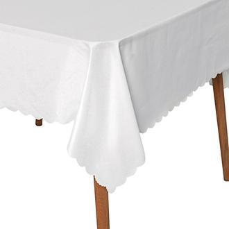Tropik Home Gofre Embossed Masa Örtüsü - 150x150 cm - Beyaz