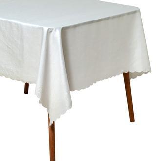 Tropik Home Gofre Embossed Masa Örtüsü - 150x180 cm - Beyaz