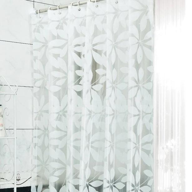 Primanova Lotus Banyo Perdesi - Beyaz