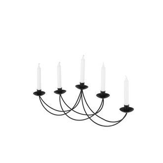 Angdesign-Elegane-Dekoratif Metal Mumluk 5'li( Siyah )
