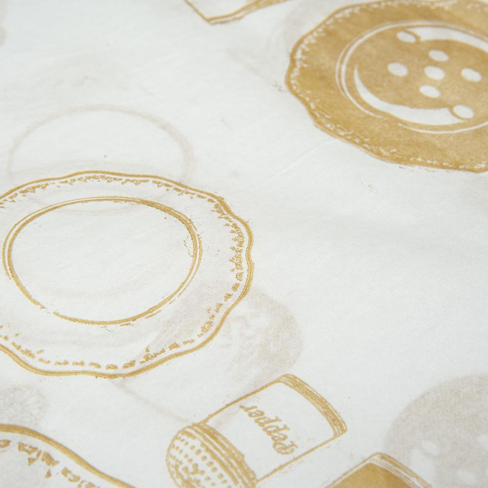Pratikser 10'lu Kullan At Masa Örtüsü - 100x120 cm - Bej Desenli