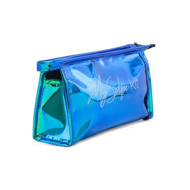 MMC Ayna Hologram Biyeli Kozmetik Çantası - Mavisi