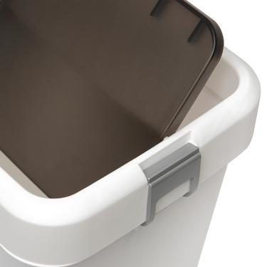 Motek Comfort Dust Bin Çöp Kovası (Beyaz) - 18 lt