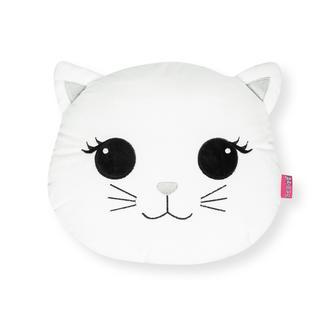 Selay Toys Cat Figürlü Yastık (Beyaz) - 25 cm