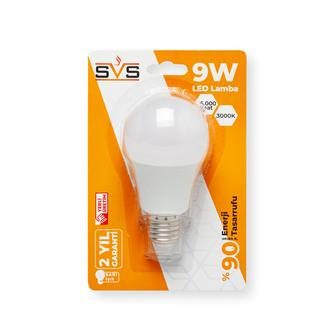 SVS A60 9W E27 2700K Sarı Işık Ampul