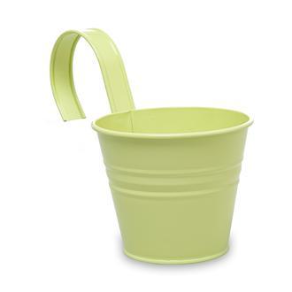 Desen Dekor Askılı Saksı - Yeşil