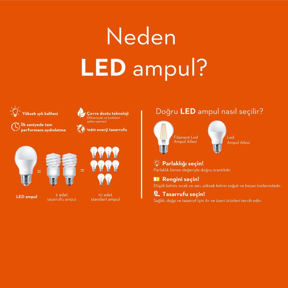 Philips A60 Ledbulb 6-40W E27 6500K Beyaz Işık Ampul