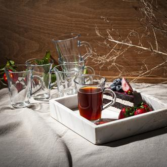 Lav Nisa 6'lı Kulplu Çay Bardağı - 150 cc