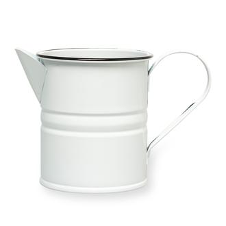 Metal Dekoratif Beyaz Vazo