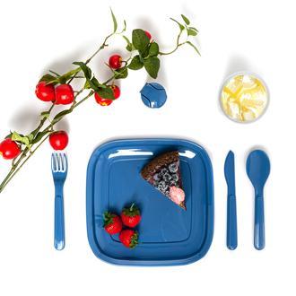 Titz Lovely 32 Parça 6 Kişilik Piknik Seti - Mavi