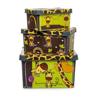 Qutu Style 3'lü Box Giraffe Kutu