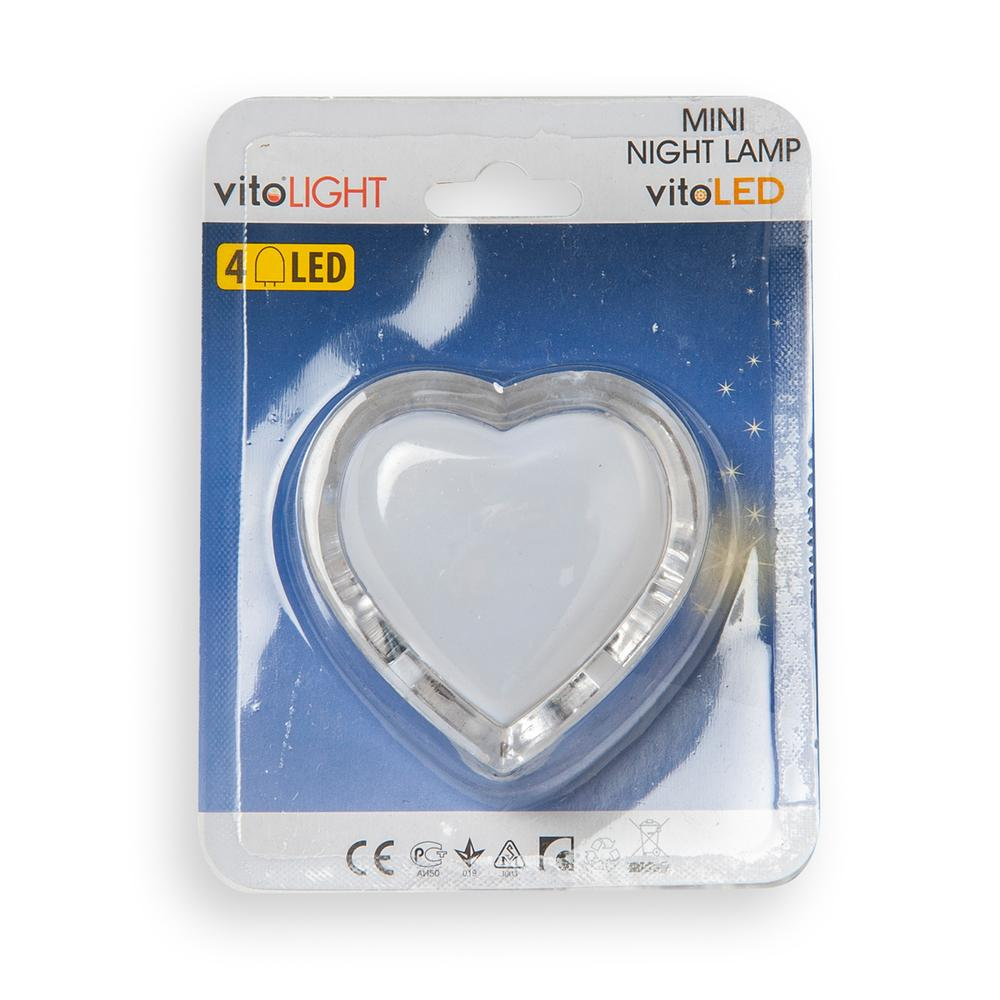 Vito Heart Led Gece Lambası  Pnk 220V Eu.Plug