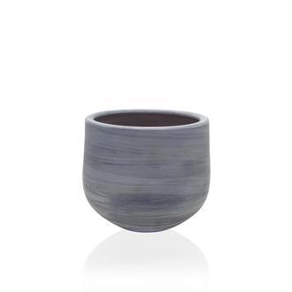 The Mia Eskitme Oval Saksı - 17x15 cm