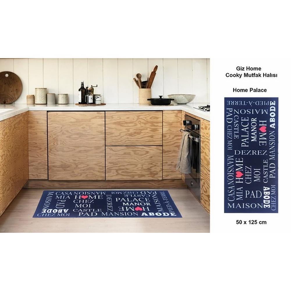 Giz Home Home Place Mutfak Halısı (Siyah) - 50x125 cm