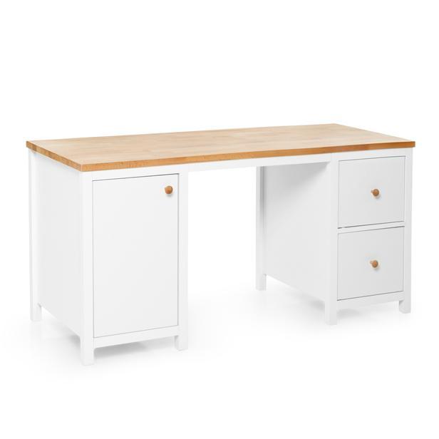 Just Home Noble 2 Çekmeceli Çalışma Masası - Beyaz