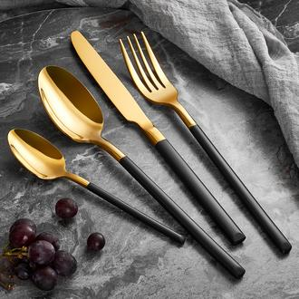 ArYıldız Soho Prestige 24 Parça Çatal Bıçak Takımı - Gold