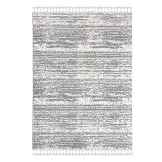 Payidar 2778A Moroccan Shaggy Halı (Beyaz/Gri) - 120x180 cm