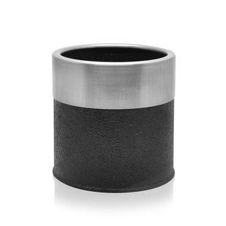 The Mia Saksı - Siyah / Gümüş - 13x13 cm