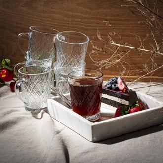 Paşabahçe 55723 Rubby 6'lı Kulplu Çay Fincanı - 145 cc
