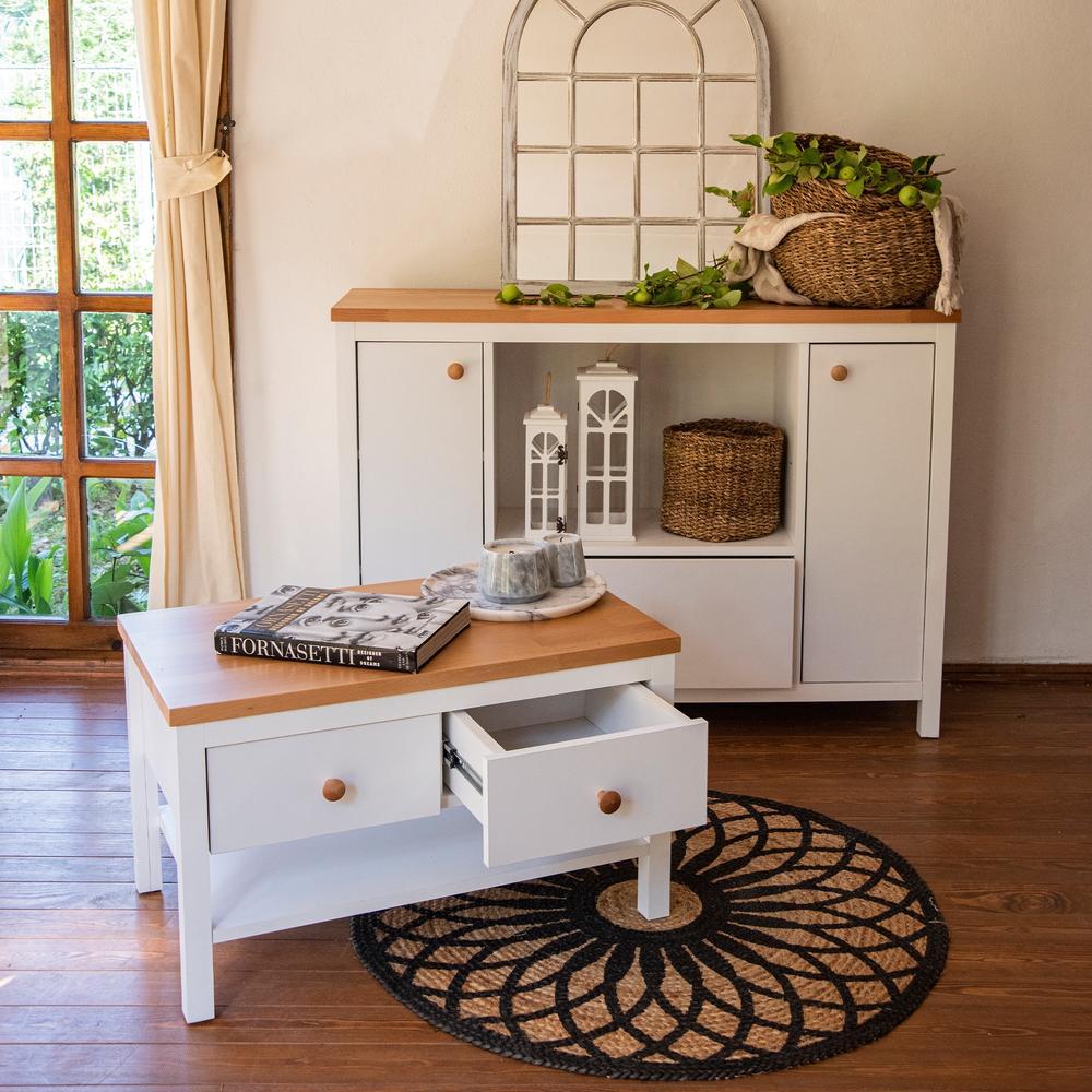 Just Home Noble 2 Çekmeceli Orta Sehpa - Beyaz