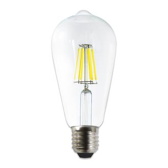 Heka St64 6W Şeffaf E27 6500K Beyaz Işık Ampul